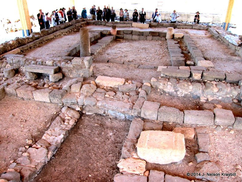 The synagogue found at Magdala in 2009 had stone benches against the outside walls, and some floor mosaics survive.