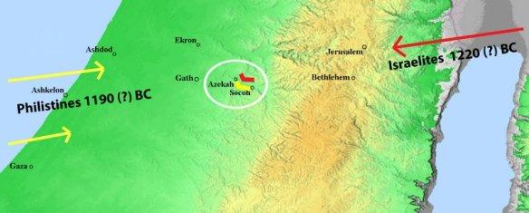 Philistiine-Israelite conflict