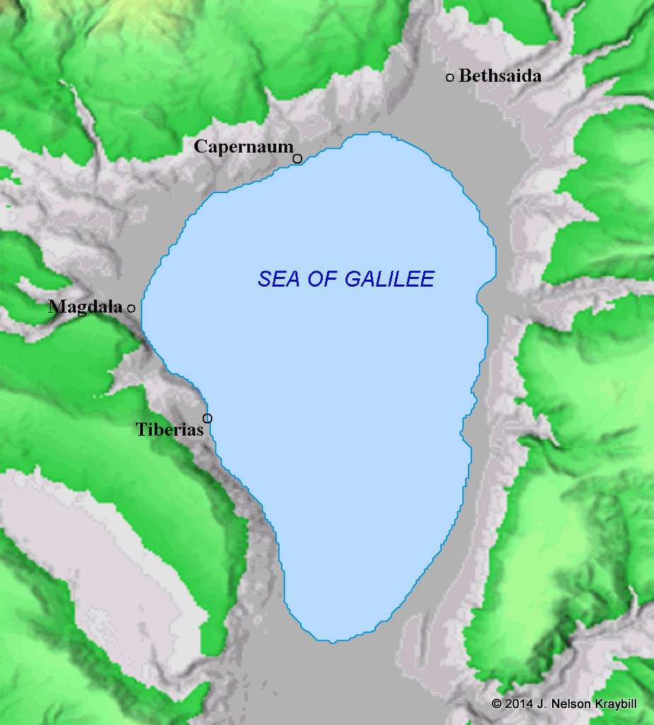 In the first century Magdala was a fishing village on the west shore of the Sea of Galilee.