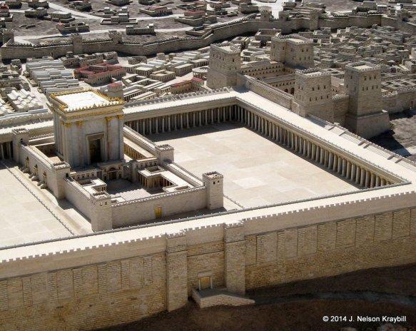 Israel, Jerusalem, Israel Museum, model of Jerusalem-6