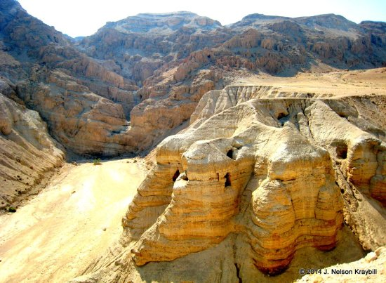 Israel, Qumran, caves where scrolls were found-1